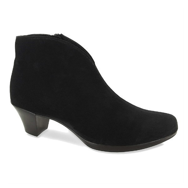 WOMEN'S ROBYN BLACK SUEDE SHORT DRESS BOOT Thumbnail