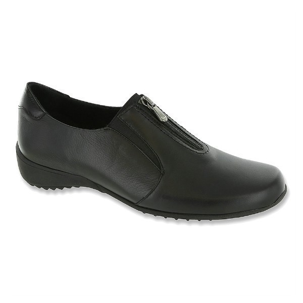 WOMEN'S BERKLEY BLACK LEATHER SLIP-ON Thumbnail