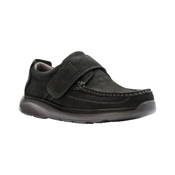 MEN'S OTTO BLACK HOOK-AND-LOOP CASUAL SHOE Thumbnail