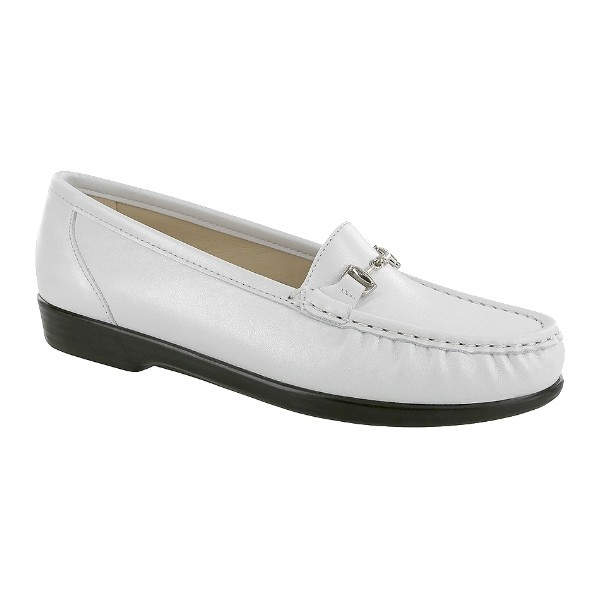 WOMEN'S METRO PEARL WHITE LEATHER LOAFER Thumbnail