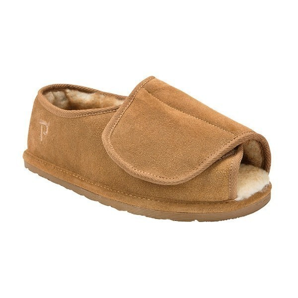 MEN'S ADJUSTABLE OVERLAY CINNAMON SLIPPER Thumbnail