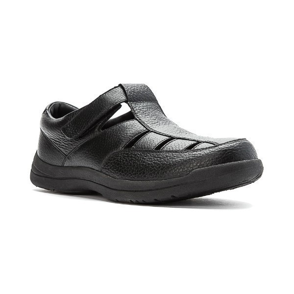 MEN'S BAYPORT BLACK LEATHER FISHERMAN SANDAL Thumbnail