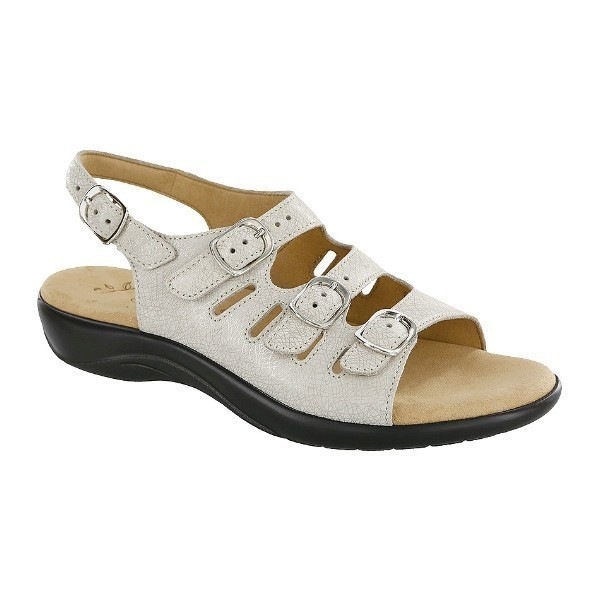 WOMEN'S MYSTIC WEB LINEN LEATHER STRAP SANDAL Thumbnail
