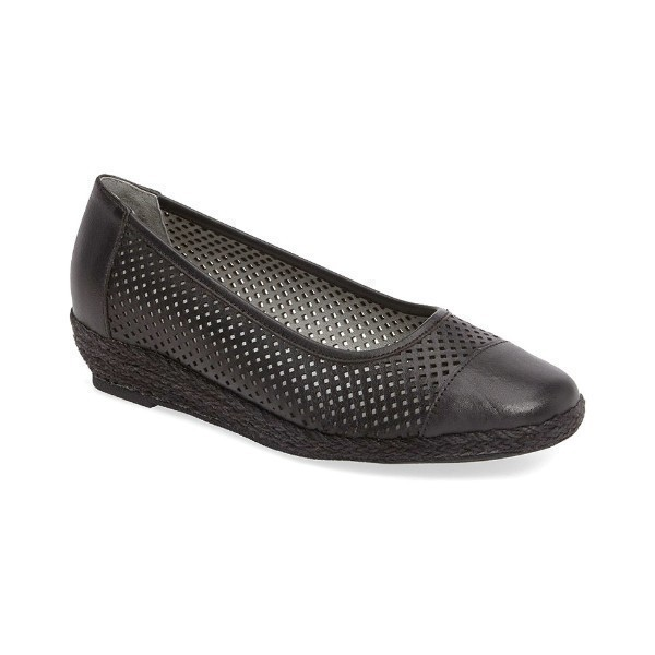 WOMEN'S NADINE BLACK LEATHER CASUAL SLIP-ON Thumbnail