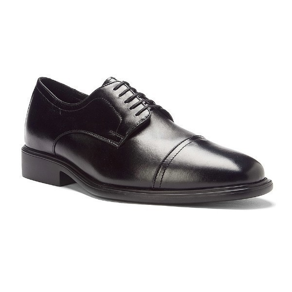 MEN'S SENATOR BLACK LEATHER DRESS CAP-TOE Thumbnail