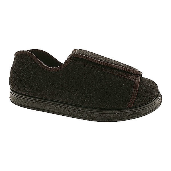 WOMEN'S NURSE CHARCOAL EXTRA DEPTH SLIPPER Thumbnail