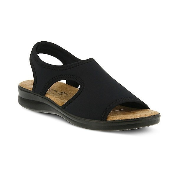 WOMEN'S FLEXUS NYAMAN BLACK FABRIC SANDAL Thumbnail