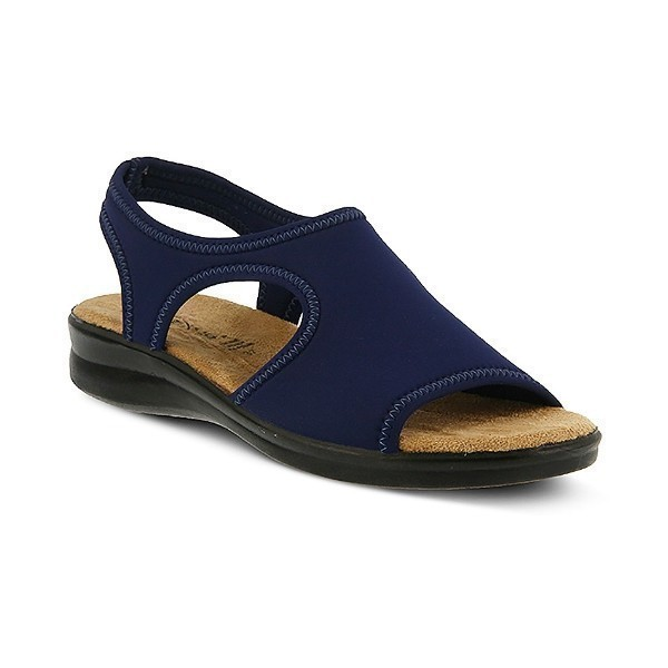 WOMEN'S FLEXUS NYAMAN NAVY FABRIC SANDAL Thumbnail
