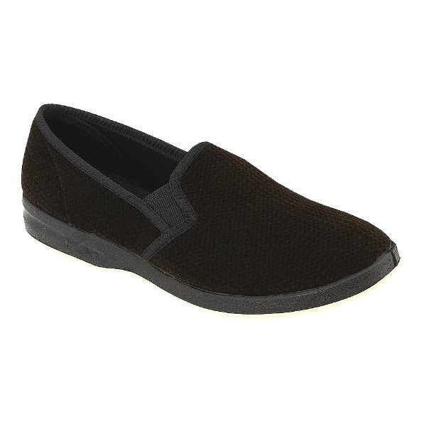 MEN'S REGAL BROWN VELOUR CLOSED BACK SLIPPER Thumbnail