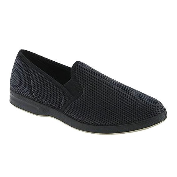 MEN'S REGAL NAVY VELOUR CLOSED BACK SLIPPER Thumbnail