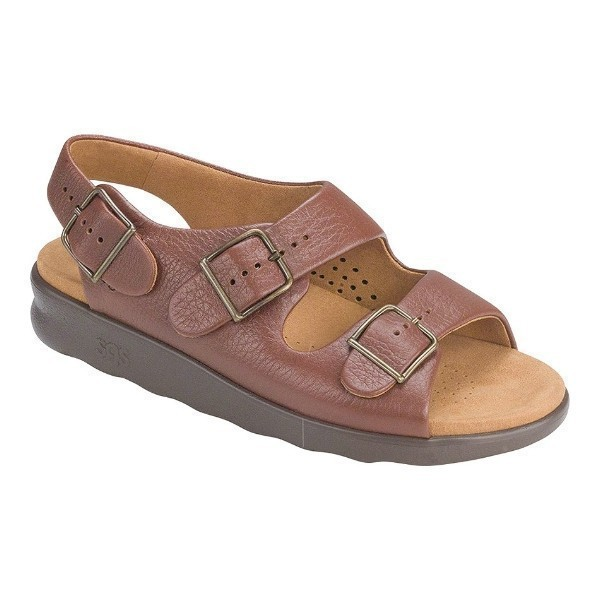 WOMEN'S RELAXED AMBER LEATHER SANDAL Thumbnail