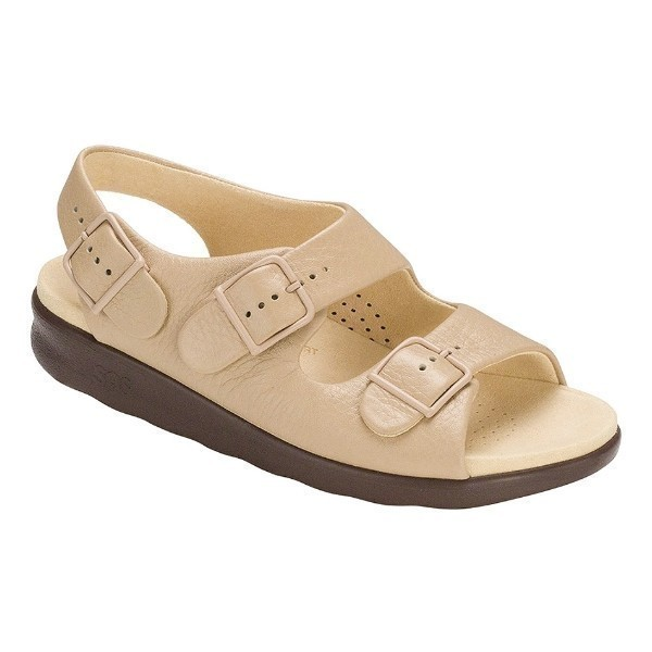 WOMEN'S RELAXED NATURAL LEATHER SANDAL Thumbnail