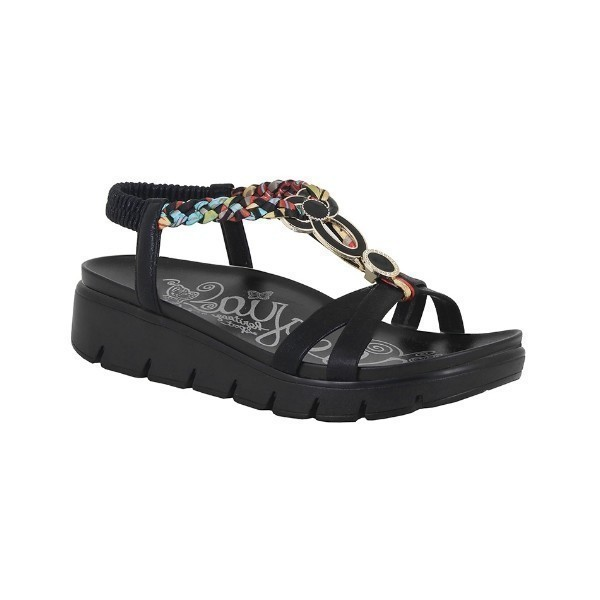 WOMEN'S ROZ BLACK MULTI SANDAL Thumbnail