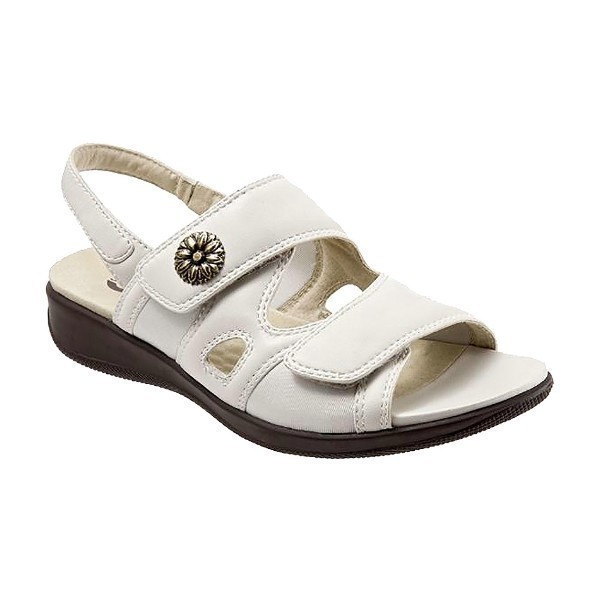 WOMEN'S TANGLEWOOD OFF-WHITE LEATHER SANDAL Thumbnail