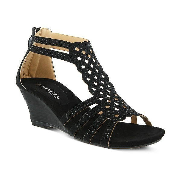 WOMEN'S PATRIZIA SAGEBUSH BLACK WEDGE SANDAL Thumbnail