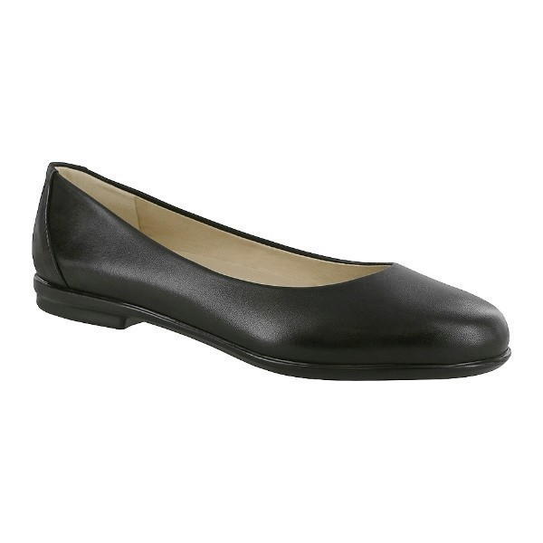 WOMEN'S SCENIC BLACK LEATHER BALLET FLAT Thumbnail