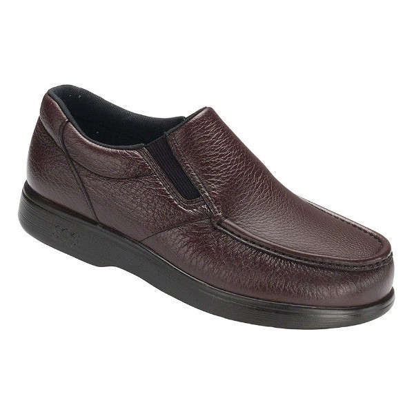 MEN'S SIDE GORE WINE LEATHER CASUAL SLIP-ON Thumbnail