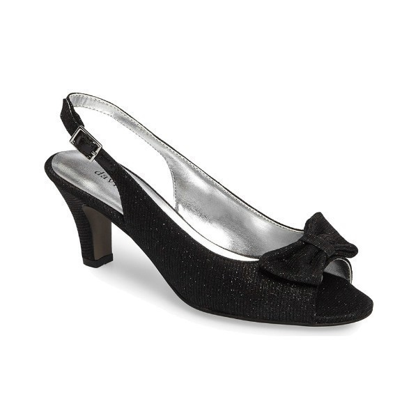 WOMEN'S SPIRIT BLACK GLITZ EVENING SHOE Thumbnail