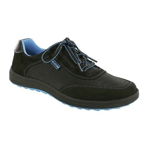 WOMEN'S SPORTY BLACK COMFORT WALKING SNEAKER Thumbnail
