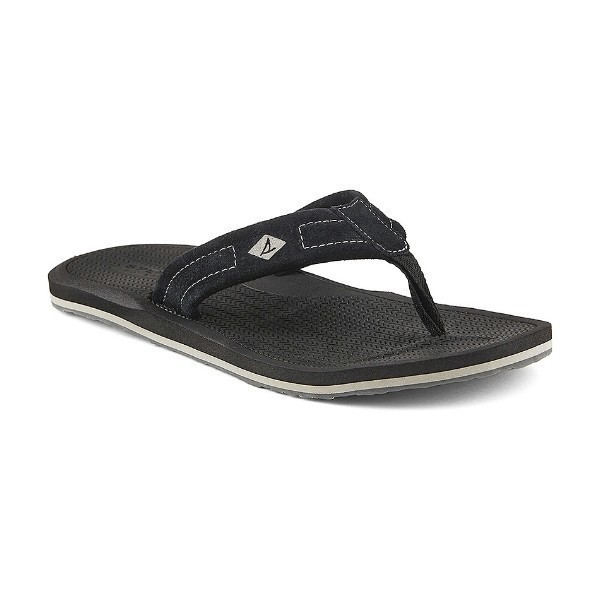 MEN'S SHARKTOOTH BLACK FLIP-FLOP SANDAL Thumbnail