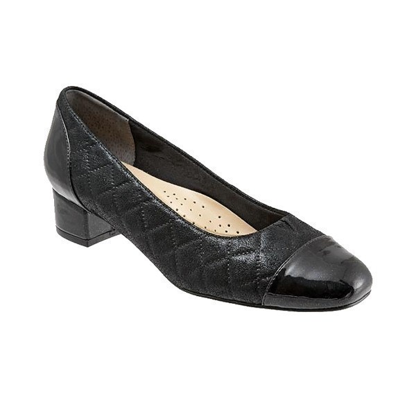 WOMEN'S DANELLE BLACK QUILTED PUMP Thumbnail