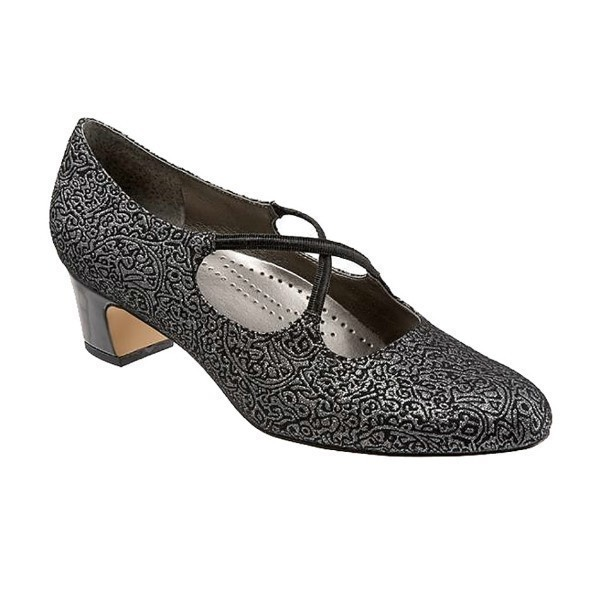 WOMEN'S JAMIE BLACK/SILVER FABRIC PUMP Thumbnail
