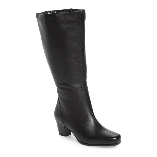 WOMEN'S TACOMA BLACK SOFT WIDE CALF TALL BOOT Thumbnail