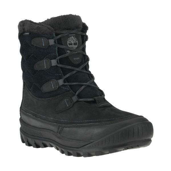 WOMEN'S WOODHAVEN BLACK LEATHER WINTER BOOT Thumbnail