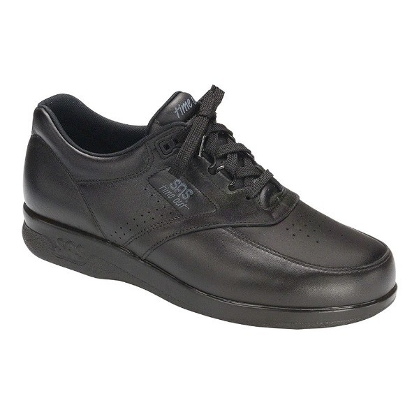 MEN'S TIME OUT BLACK LEATHER CASUAL WALKER Thumbnail