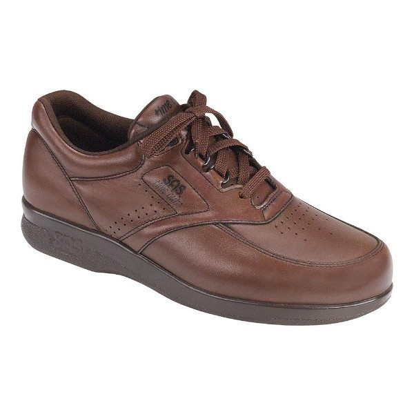 MEN'S TIME OUT BROWN LEATHER CASUAL WALKER Thumbnail