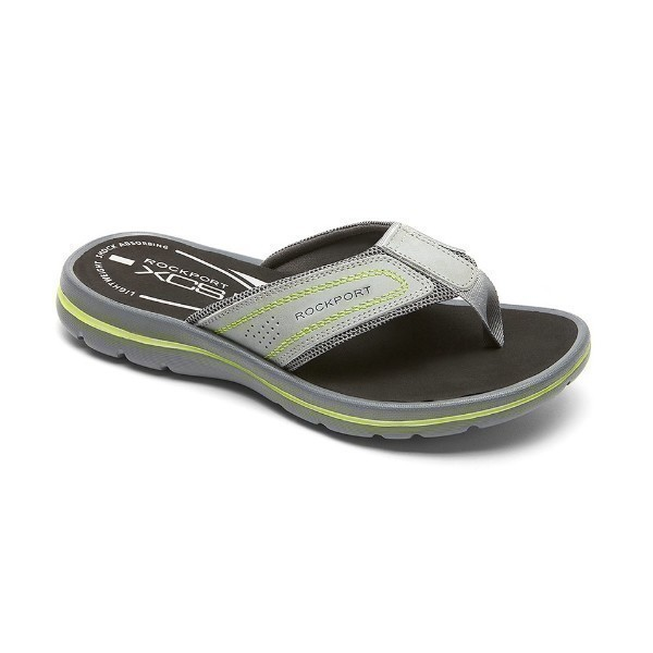 MEN'S GET YOUR KICKS GREY THONG SANDAL Thumbnail