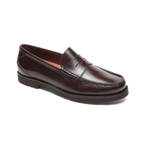 MEN'S MODERN PREP BURGUNDY PENNY LOAFER Thumbnail