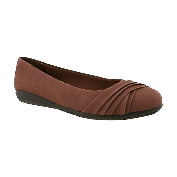 WOMEN'S FLICK TOBACCO NUBUCK DRESS FLAT Thumbnail
