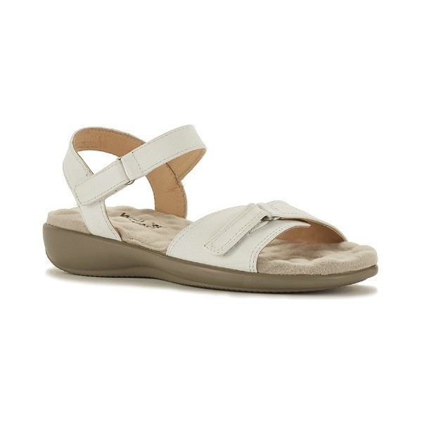 WOMEN'S SKY 3 WHITE LEATHER SANDAL Thumbnail