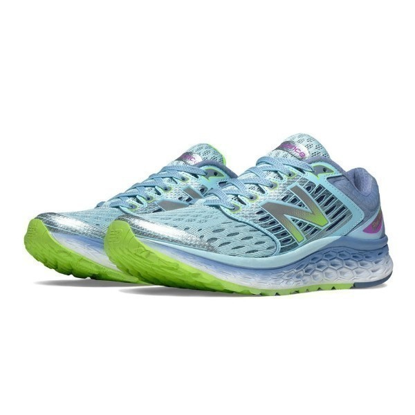WOMEN'S W1080BG6 FRESH FOAM BLUE/GREEN RUNNER Thumbnail