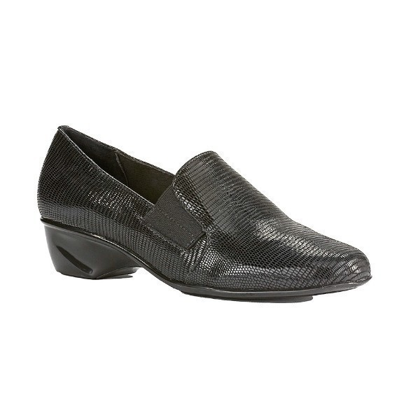 WOMEN'S TERI BLACK LIZARD PRINT SLIP-ON Thumbnail
