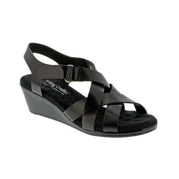 WOMEN'S NEWTON BLACK SOFT LEATHER SANDAL Thumbnail