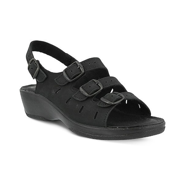 WOMEN'S FLEXUS WILLA BLACK SANDAL Thumbnail