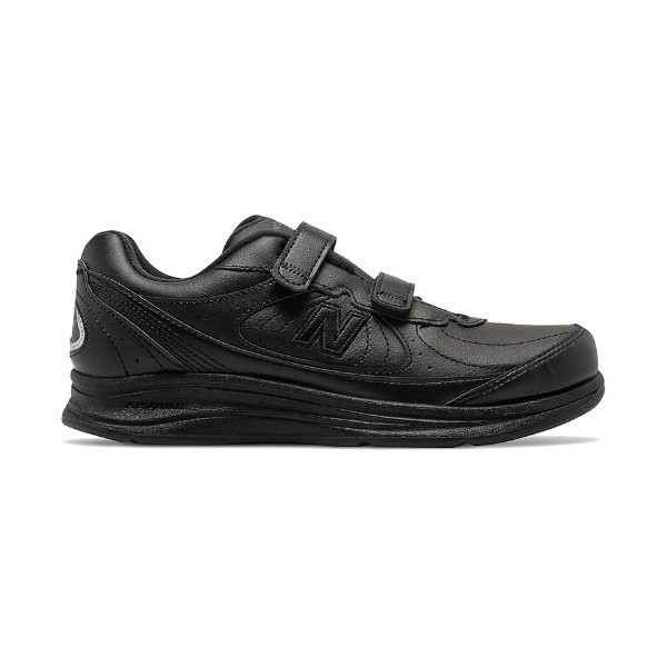 WOMEN'S WW577VK BLACK LEATHER VELCRO WALKING Thumbnail