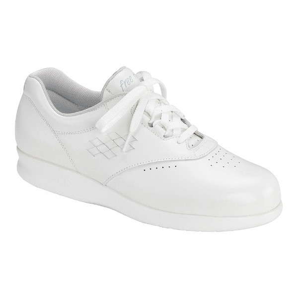WOMEN'S FREETIME WHITE LEATHER COMFORT WALKER Thumbnail