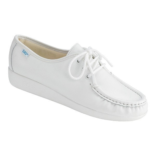 WOMEN'S SIESTA WHITE LEATHER CASUAL LACE-UP Thumbnail