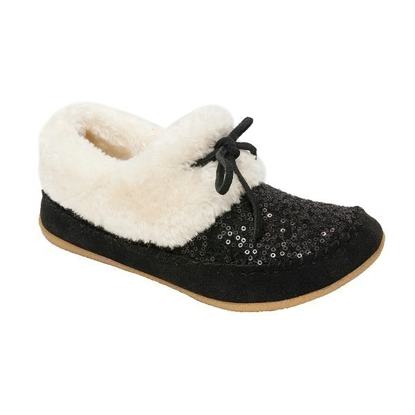 WOMEN'S JORDYN BLACK SEQUIN SUEDE SLIPPER Thumbnail