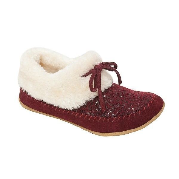 WOMEN'S JORDYN RUBY SEQUIN SUEDE SLIPPER Thumbnail