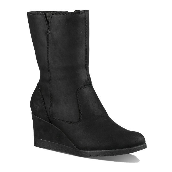 WOMEN'S JOELY BLACK WEDGE BOOT Thumbnail