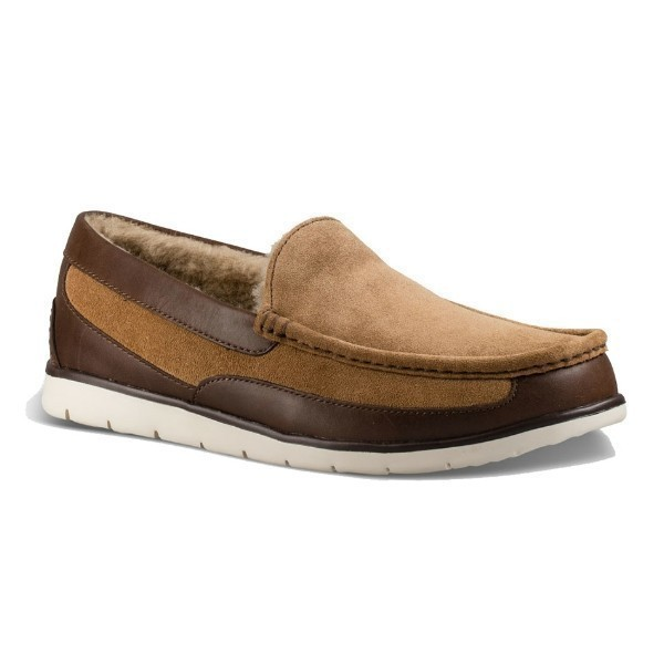 MEN'S FASCOT CHESTNUT  LEATHER/SUEDE LOAFER Thumbnail