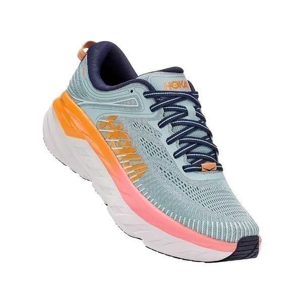 WOMEN'S BONDI 7 BLUE HAZE (WIDE) SNEAKER Thumbnail