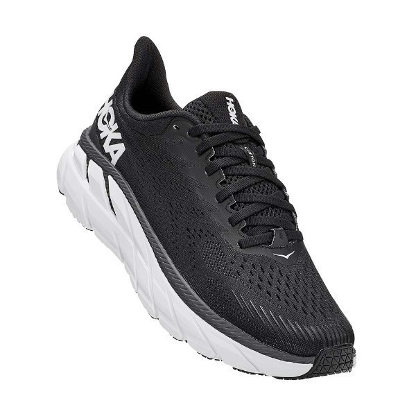WOMEN'S CLIFTON 7 BLACK/WHITE (WIDE) SNEAKER Thumbnail