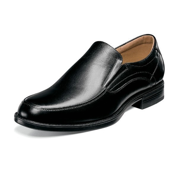 MEN'S MIDTOWN MOC TOE BLACK DRESS SLIP-ON Thumbnail
