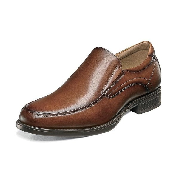 MEN'S MIDTOWN MOC TOE COGNAC DRESS SLIP-ON Thumbnail