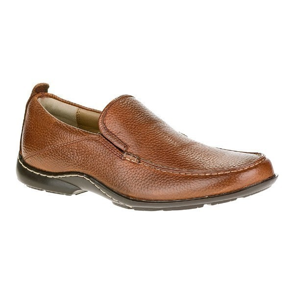 MEN'S GT BROWN LEATHER MOC TOE SLIP-ON Thumbnail